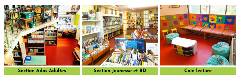 Sections de la bibliothèque de Froidmont