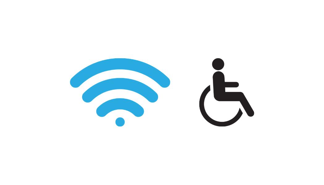 Wi-fi disponible et bibliothèque accessible aux personnes à mobilité réduite
