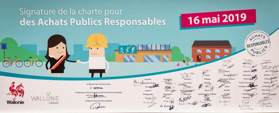 Panneau signature charte APR